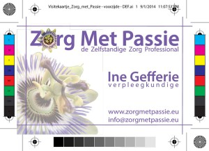 MakkerDesign visitekaartje - flyer en website Zorg met Passie